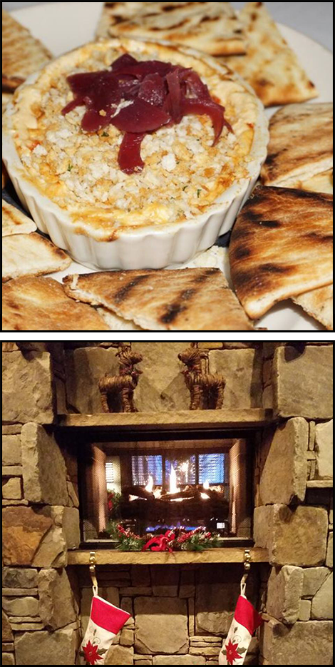Hors D'oeuvre and Fireplace